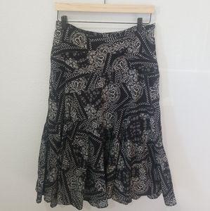 Lauren Ralph Lauren ALine Cotton Paisley Skirt 8P